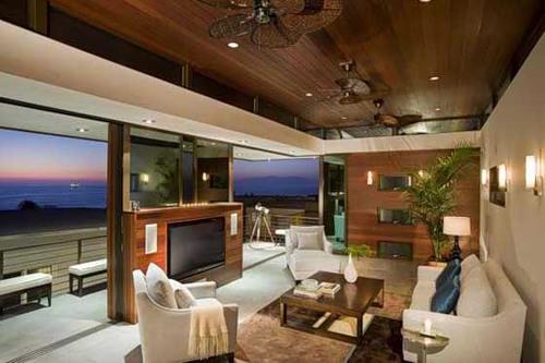 Деревянный потолок и стиль Хай- Тек