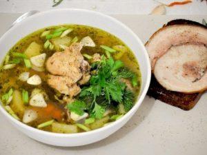 О диетическом супе с копченой курицей и гречкой на instacook.me